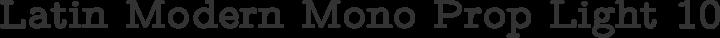 Latin Modern Mono Prop Light 10 Bold free font