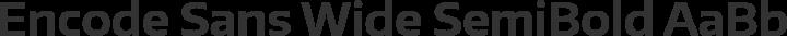 Encode Sans Wide SemiBold free font