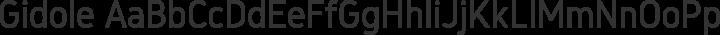 Gidole Regular free font