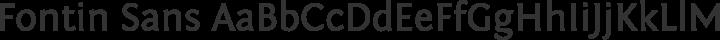 Fontin Sans Regular free font