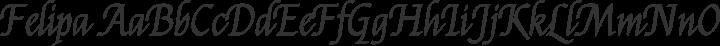 Felipa Regular free font