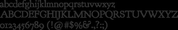 Goudy Bookletter 1911 Font Specimen