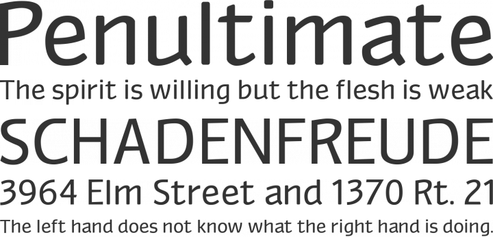 Myndraine Font Phrases