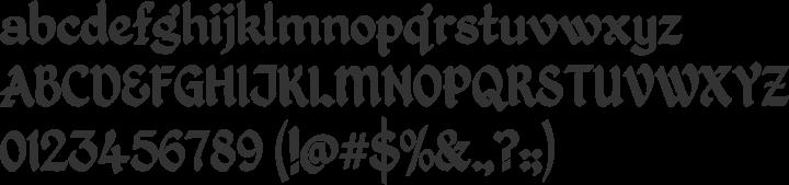Kingthings Petrock Font Specimen