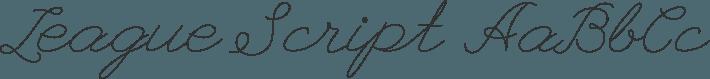 League Script font family by Haley Fiege