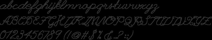 League Script Font Specimen