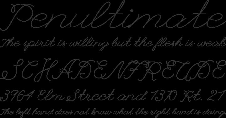 League Script Font Phrases