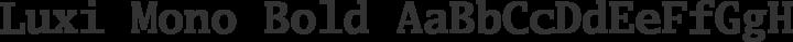 Luxi Mono Bold free font