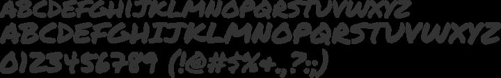 Permanent Marker Font Specimen