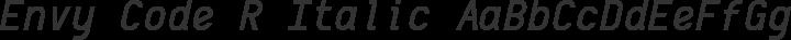 Envy Code R Italic free font