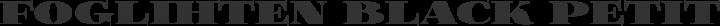 Foglihten Black Petite Caps free font