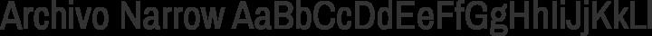 Archivo Narrow Regular free font