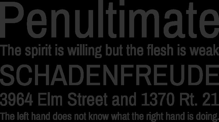 Archivo Narrow Font Phrases