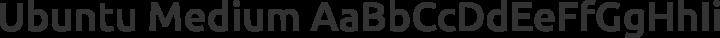 Ubuntu Medium free font