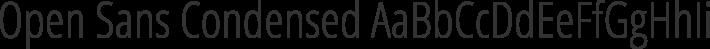 Open Sans Condensed font family by Ascender Fonts