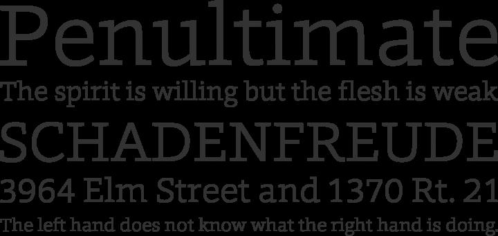Foro Font Phrases