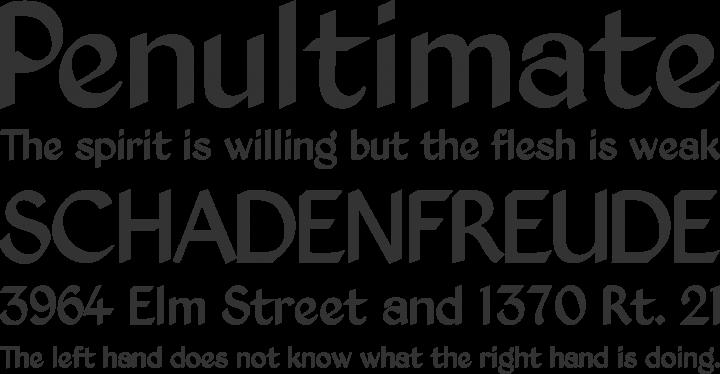 Kingthings Exeter Font Phrases