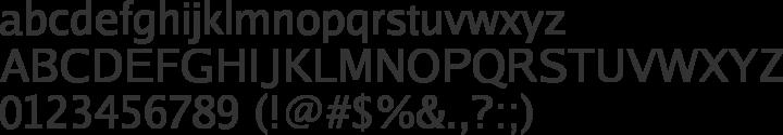 Luxi Sans Font Specimen