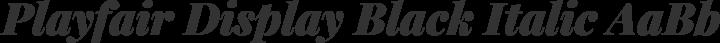 Playfair Display Black Italic free font