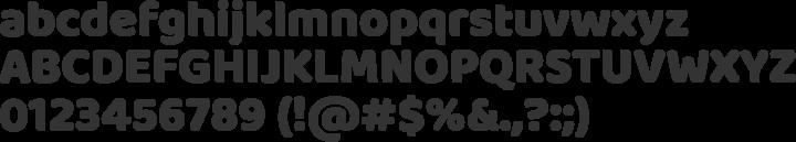 Baloo Font Specimen