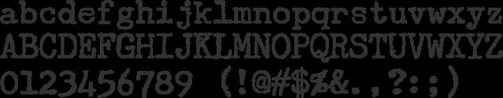 Underwood Champion Font Specimen