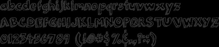 3Dumb Font Specimen