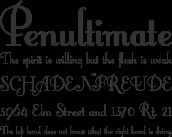 FontleroyBrown Font Phrases
