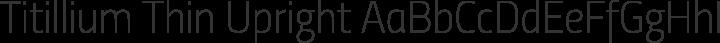 Titillium Thin Upright free font