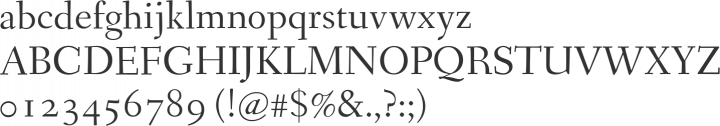 Fanwood Font Specimen