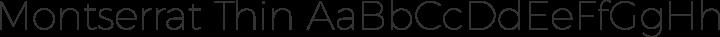 Montserrat Thin free font