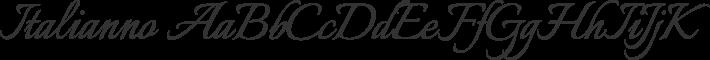 Italianno font family by TypeSETit