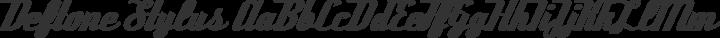 Deftone Stylus Regular free font