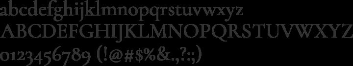 Cormorant Font Specimen
