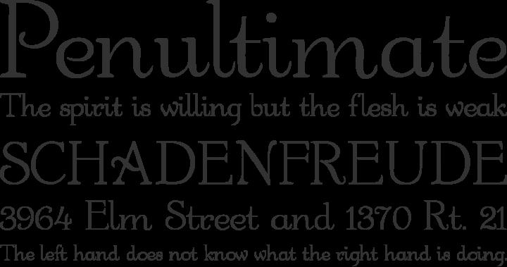 Garton Font Phrases