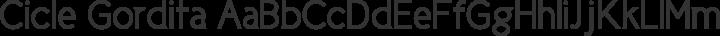 Cicle Gordita free font