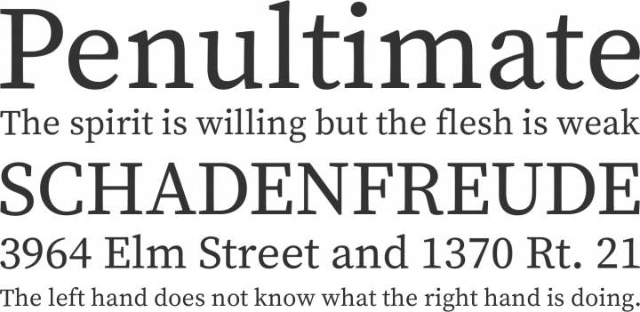 Source Serif Pro Font Phrases