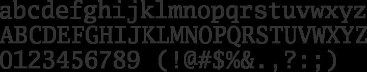 Luxi Mono Font Specimen