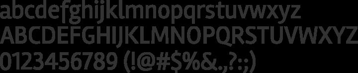 Rambla Font Specimen