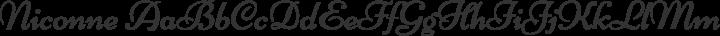 Niconne Regular free font