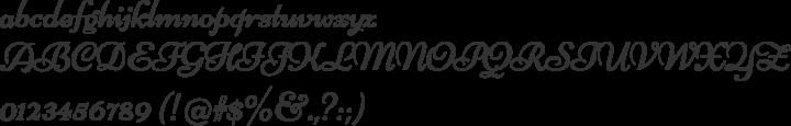 Niconne Font Specimen
