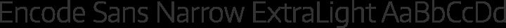 Encode Sans Narrow ExtraLight free font