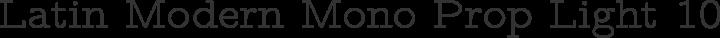Latin Modern Mono Prop Light 10 Regular free font