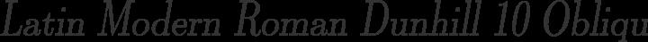 Latin Modern Roman Dunhill 10 Oblique free font