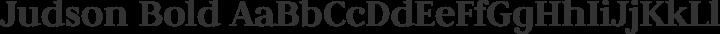 Judson Bold free font