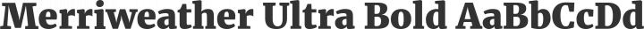 Merriweather Ultra Bold free font