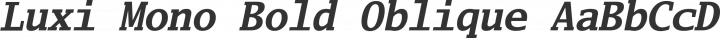Luxi Mono Bold Oblique free font