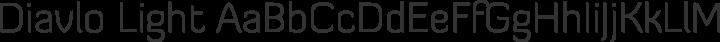 Diavlo Light free font