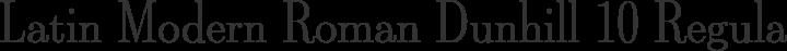 Latin Modern Roman Dunhill 10 Regular free font