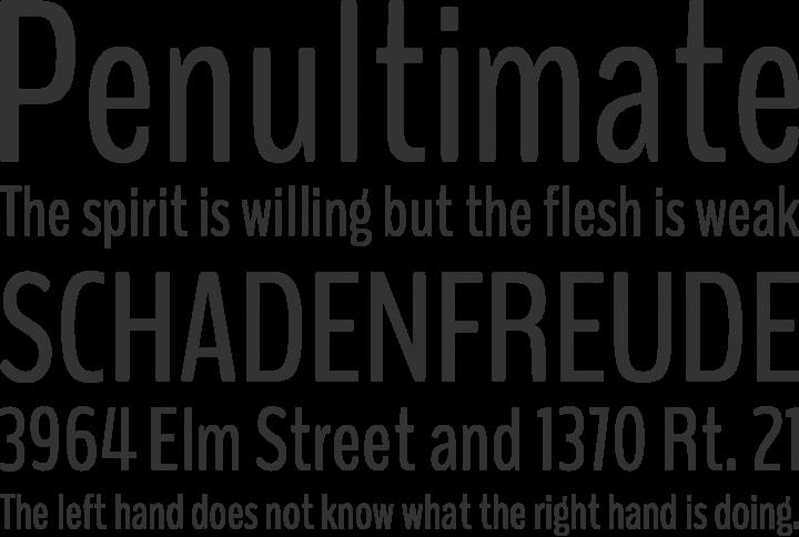 BenchNine Font Phrases