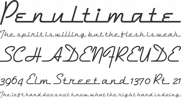 DymaxionScript Font Phrases